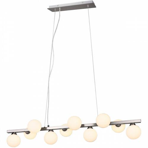 LED Hängelampe - Trion Alionisa - G9 Sockel - 10-flammig - Rechteckig - Matt Nickel - Aluminium