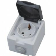 Gartensteckdose - Aufbau - Wasserdicht IP54