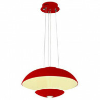 LED Deckenleuchte - Deckenbeleuchtung - Viesta - 24W - Universalweiß 4000K - Rot Aluminium