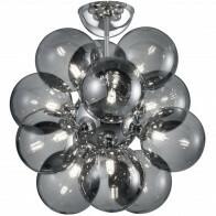 LED Deckenleuchte - Deckenbeleuchtung - Trion Alionisa - G9 Sockel - 12-flammig - Rund - Chrom Rauchglas - Aluminium