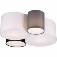 LED Deckenleuchte - Deckenbeleuchtung - Trion Hotia - E27 Sockel - 4-flammig - Rund - Mehrfarbig - Aluminium