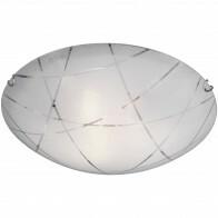 LED Deckenleuchte - Deckenbeleuchtung - Trion Sandra - E27 Sockel - 3-flammig - Rund - Mattweiß - Glas