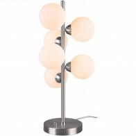 LED Tischlampe - Trion Alionisa - G9 Sockel - 6-flammig - Dimmbar - Rund - Matt Nickel - Aluminium