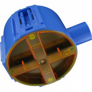 ABB - Inbouwdoos - Hafobox - 40mm - 5/8inch - Incl. Deksel - Blauw