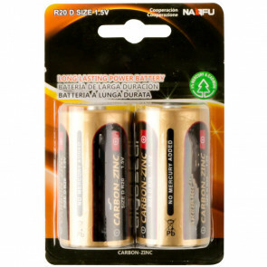 Batterij - Aigi Dolu - R20/D - 1.5V - Lithium Batterijen - 2 Stuks