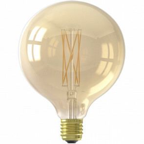 CALEX - LED Lamp - Globe Spiraal - Filament G125 - E27 Fitting - Dimbaar - 4W - Warm Wit 2100K - Amber