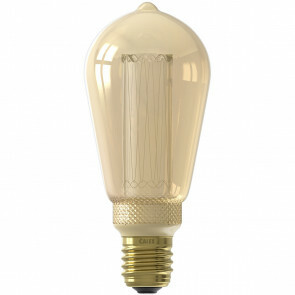 CALEX - LED Lamp - Rustiek - Filament ST64 - E27 Fitting - Dimbaar - 3.5W - Warm Wit 1800K - Amber