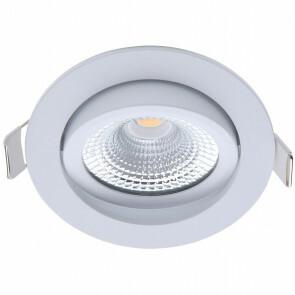 EcoDim - LED Spot - Inbouwspot - ED-10028 - 5W - Waterdicht IP54 - Dimbaar - Warm Wit 2700K - Mat Wit - Aluminium - Rond - Kantelbaar