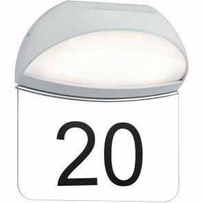 Huisnummer Verlichting - Trion Magona - 5W - Warm Wit 3000K - Mat Wit - Aluminium