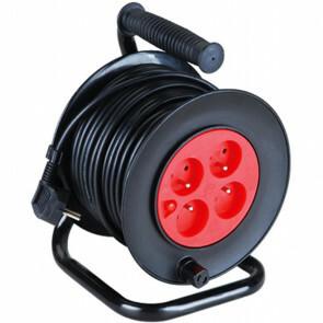 Kabelhaspel - Aigi Sitronu - 2300W - 4 Stopcontacten - 25 Meter - Zwart