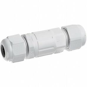Kabelverbinder - Rechte Connector - Waterdicht IP68 - 3 Aderig - Zwart