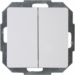 KOPP - Wisselschakelaar Wissel/Wissel - Paris - Inbouw - 1-voudig Dubbel Schakelaar - Arctic Glans Wit