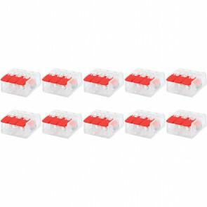 Lasklem Slim Set 10 Stuks - 3 Polig met Klemmetjes - Rood