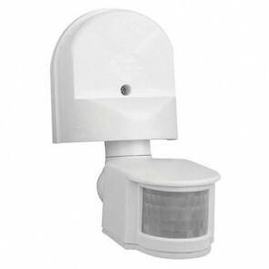 LED bewegingssensor / bewegingsmelder / PIR Sensor Kantelbaar Opbouw Wit Kunststof 8m 180 Graden IP44
