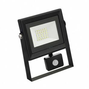 LED Bouwlamp 20 Watt met sensor - LED Schijnwerper - Pardus - Helder/Koud Wit 6400K - Waterdicht IP65