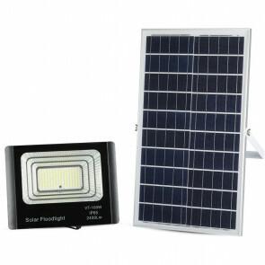 LED Bouwlamp 35 Watt met Zonne-Energie Incl. Afstandsbediening - LED Schijnwerper - Natuurlijk Wit 4000K - Waterdicht IP65