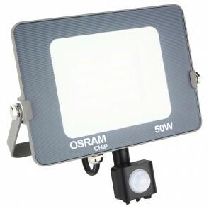 LED Bouwlamp 50 Watt met sensor - LED Schijnwerper - OSRAM - Natuurlijk Wit 4000K - Waterdicht IP65