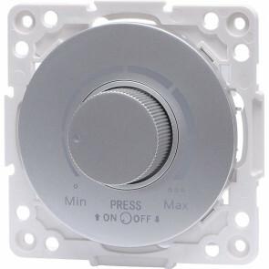 LED Dimmer - Aigi Jura - Inbouw - Rond - Kunststof - Enkel Knop - 3-100W - Zilver