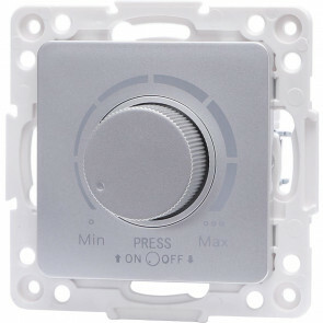 LED Dimmer - Aigi Jura - Inbouw - Vierkant - Kunststof - Enkel Knop - 3-100W - Zilver