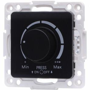 LED Dimmer - Aigi Jura - Inbouw - Vierkant - Kunststof - Enkel Knop - 3-100W - Zwart