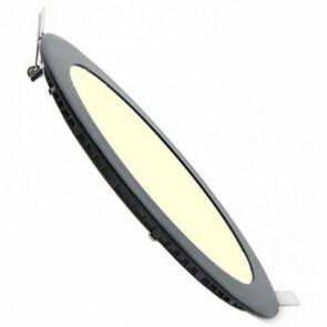 LED Spot / LED Downlight / LED Paneel Set BSE Mat Zwart Slim Rond Inbouw 3W 3000K Warm Wit 90mm Dimbaar Spatwaterdicht