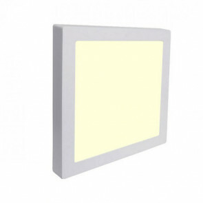 LED Downlight Pro - Aigi - Opbouw Vierkant 18W - Warm Wit 3000K - Mat Wit Aluminium - 227mm