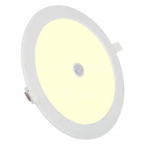LED Downlight Slim - Aigi - PIR Bewegingssensor - Inbouw Rond 12W - Warm Wit 3000K - Mat Wit Aluminium - Ø170mm