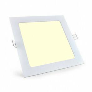 LED Downlight Slim Pro - Aigi - Inbouw Vierkant 18W - Warm Wit 3000K - Mat Wit Aluminium - 220mm