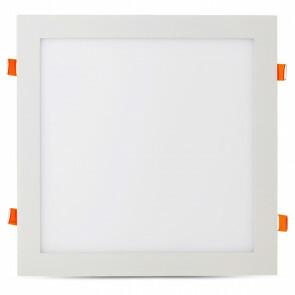 LED Downlight Slim - Viron Xisus - Inbouw Vierkant 24W - Helder/Koud Wit 6400K - Mat Wit - Aluminium - 300mm