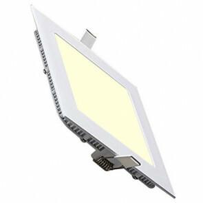 LED Spot / LED Downlight / LED Paneel Set BSE Slim Vierkant Inbouw 15W 2700K Warm Wit 195mm Spatwaterdicht