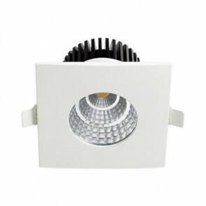 LED Downlight Vierkant Inbouw Waterdicht IP65 6W 4200K Natuurlijk Wit Aluminium Mat Wit Armatuur/Frame 90x90mm