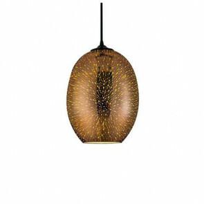 LED Hanglamp 3D - Quanta - Ovaal - Koper Glas - E27