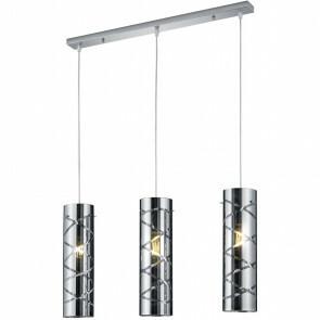 LED Hanglamp - Hangverlichting - Trion Ramon - E27 Fitting - 3-lichts - Rechthoek - Mat Chroom - Aluminium