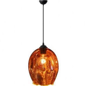 LED Hanglamp - Meteorum XL - Ovaal - Koper Glas - E27