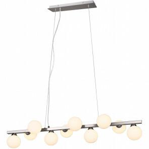 LED Hanglamp - Trion Alionisa - G9 Fitting - 10-lichts - Rechthoek - Mat Nikkel - Aluminium