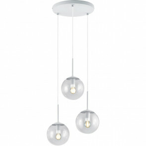 LED Hanglamp - Trion Balina - E14 Fitting - 3-lichts - Rond - Mat Wit - Aluminium