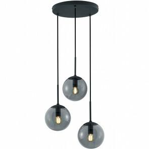 LED Hanglamp - Trion Balina - E14 Fitting - 3-lichts - Rond - Mat Zwart - Aluminium