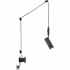 LED Hanglamp - Trion Corlo - GU10 Fitting - Rond - Mat Zwart - Aluminium