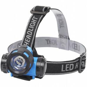 LED Hoofdlamp - Aigi Crunci - Waterdicht - 50 Meter - Kantelbaar - 1 LED - 0.8W - Blauw | Vervangt 7W