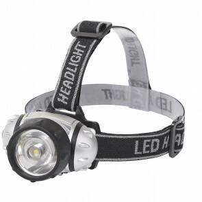 LED Hoofdlamp - Aigi Hitro - Waterdicht - 50 Meter - Kantelbaar - 1 LED - 1.8W - Zilver | Vervangt 13W