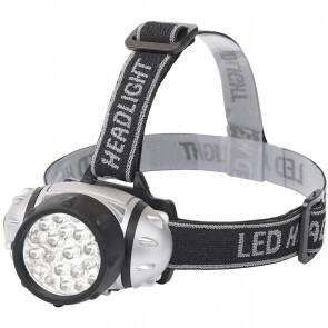 LED Hoofdlamp - Aigi Slico - Waterdicht - 50 Meter - Kantelbaar - 23 LED's - 1.1W - Zilver | Vervangt 9W