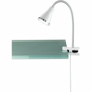 LED Klemlamp - Trion Arora - 3W - Warm Wit 3000K - Glans Wit - Kunststof