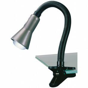 LED Klemlamp - Trion Fexy - E14 Fitting - Glans Grijs - Kunststof