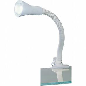 LED Klemlamp - Trion Fexy - E14 Fitting - Glans Wit - Kunststof