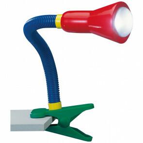 LED Klemlamp - Trion Fexy - E14 Fitting - Meerkleurig - Kunststof