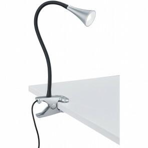 LED Klemlamp - Trion Vipa - 3W - Warm Wit 3000K - Glans Titaan - Kunststof