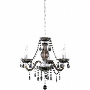 LED Kroonluchter - Trion Lucy - E14 Fitting - 3-lichts - Rond - Mat Zwart - Aluminium