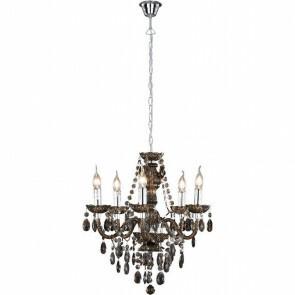 LED Kroonluchter - Trion Lucy - E14 Fitting - 5-lichts - Rond - Mat Zwart - Aluminium