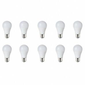 LED Lamp 10 Pack - E27 Fitting - 10W Dimbaar - Helder/Koud Wit 6400K