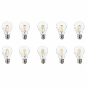 LED Lamp 10 Pack - Filament - E27 Fitting - 6W - Natuurlijk Wit 4200K